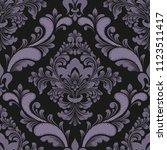 vector damask seamless pattern... | Shutterstock .eps vector #1123511417