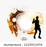 fit young male jogger. healthy... | Shutterstock .eps vector #1123511474