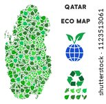 eco qatar map composition of... | Shutterstock .eps vector #1123513061
