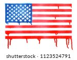 spray painted american flag... | Shutterstock . vector #1123524791