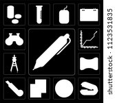 set of 13 simple editable icons ... | Shutterstock .eps vector #1123531835