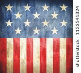 usa stars and stripes... | Shutterstock . vector #1123541324