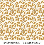 seamless gold floral pattern.... | Shutterstock .eps vector #1123559219