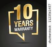 10 years warranty in speech... | Shutterstock .eps vector #1123561457