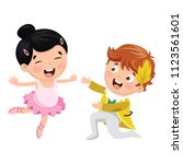 Vector Illustration Of Childre...