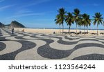 view of the famous copacabana... | Shutterstock . vector #1123564244
