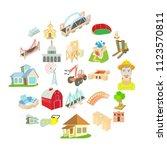 facility icons set. cartoon set ...   Shutterstock .eps vector #1123570811