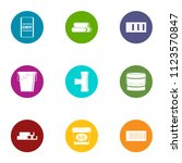adhesive icons set. flat set of ... | Shutterstock .eps vector #1123570847