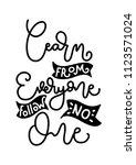 hand lettered learn from... | Shutterstock .eps vector #1123571024