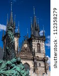 Church of Our Lady before Tyn in Prague, Czech Republic - stock photo