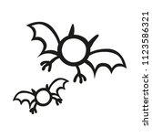 stick figure monster vampire bat | Shutterstock .eps vector #1123586321