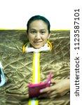 women in far infrared stream... | Shutterstock . vector #1123587101