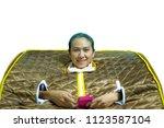 women in far infrared stream... | Shutterstock . vector #1123587104