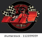go cart racing champion crest... | Shutterstock .eps vector #112359059