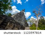 temple i  el gran jaguar one of ... | Shutterstock . vector #1123597814