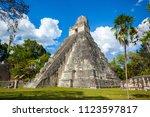 temple i  el gran jaguar one of ... | Shutterstock . vector #1123597817