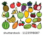 fruits set collection | Shutterstock .eps vector #1123598087