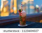 beautiful mojito cocktail on... | Shutterstock . vector #1123604027