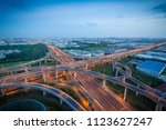 wuxi  china's overpass at...   Shutterstock . vector #1123627247