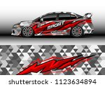car wrap graphic racing... | Shutterstock .eps vector #1123634894