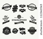 premium quality labels  ... | Shutterstock .eps vector #112363565
