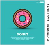 sweet donut vector illustration | Shutterstock .eps vector #1123648751