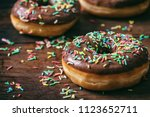 Pastries Concept. Donuts With...