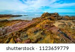 mallacoota quarry beach ... | Shutterstock . vector #1123659779