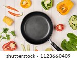 fresh fruits and vegetables...   Shutterstock . vector #1123660409