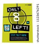 only eight left poster vector...   Shutterstock .eps vector #1123676291
