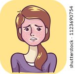 illustration of a girl with... | Shutterstock .eps vector #1123690754