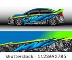 car wrap graphic racing...   Shutterstock .eps vector #1123692785