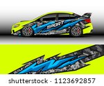 car wrap graphic racing... | Shutterstock .eps vector #1123692857