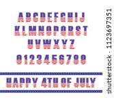 usa flag font template....   Shutterstock .eps vector #1123697351