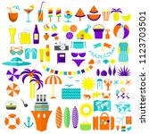 summer and travel icons big set.... | Shutterstock .eps vector #1123703501