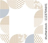 japanese template vector. gold... | Shutterstock .eps vector #1123704641