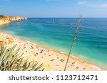 view on beach praia de porto de ...   Shutterstock . vector #1123712471