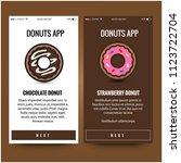 donut recipe mobile app ux ui...