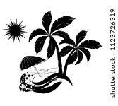 summer beach icon. vector...   Shutterstock .eps vector #1123726319