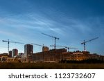 night sky view of beautiful... | Shutterstock . vector #1123732607