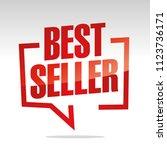 best seller in brackets speech...   Shutterstock .eps vector #1123736171