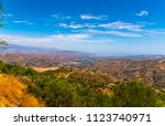 beautiful view of the mountains ... | Shutterstock . vector #1123740971