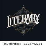 book club lettering handmade... | Shutterstock .eps vector #1123742291