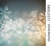 beautiful snowflake christmas... | Shutterstock . vector #112375085