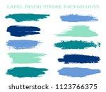 isolated label brush stroke... | Shutterstock .eps vector #1123766375