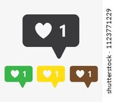 heart  like vector icon | Shutterstock .eps vector #1123771229