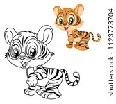 colored and black and white... | Shutterstock .eps vector #1123773704