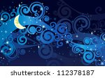 vector night starry sky with... | Shutterstock .eps vector #112378187