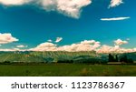 the storm is passed and the sky ...   Shutterstock . vector #1123786367