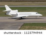 side view of a private jet... | Shutterstock . vector #1123794944